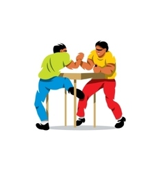 Arm wrestling cartoon vector