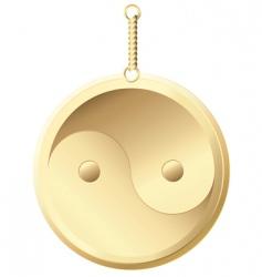 golden amulet vector image