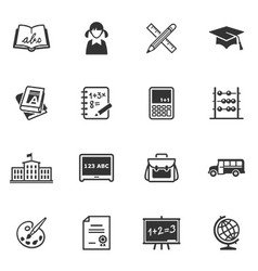 School and education icons - set 1 vector
