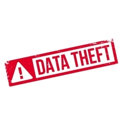 Data theft rubber stamp vector