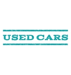 Used cars watermark stamp vector