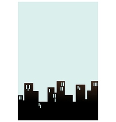 Block cityscape background vector