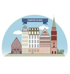 Frankfurt vector image