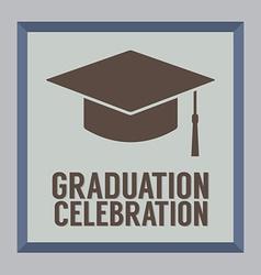 Flat design graduation celebration vector