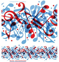 colorful horizontal music canvas seamless tape vector image