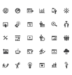 35 SEO Icons vector image vector image