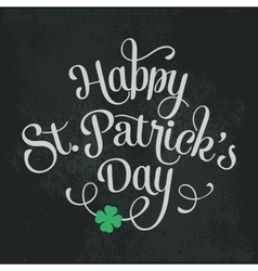 Typographic saint patricks day greeting card vector