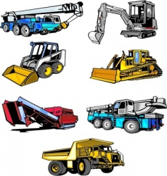 construction machinery vector image