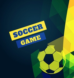 Soccer football design vector
