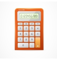 Calculator red vector