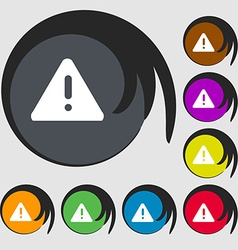 Exclamation mark attention caution icon symbols on vector