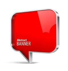 Shiny gloss red plastic banner vector