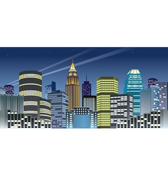 Nght city vector image