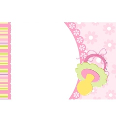 Template for babys photo album vector image