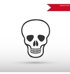 Skull icon danger concept vector