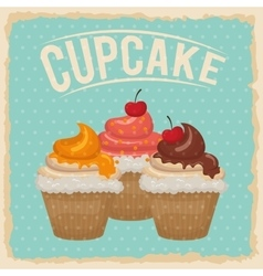 Cupcake icon dessert and sweet design vector