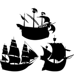 Sail silhouettes vector