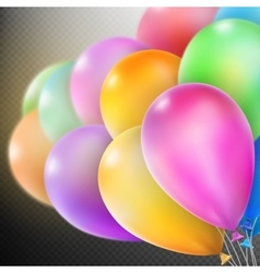 Balloons isolated EPS 10 vector image vector image
