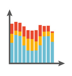Big statistics chart with colorful columns vector