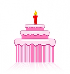 birthday cake with barcode vector image