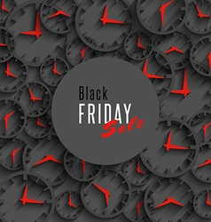 Black friday sale banner holiday season offer vector image