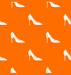 Bride shoes pattern seamless vector
