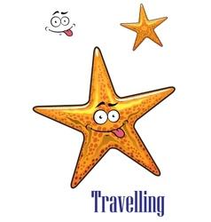 Cartoon ocean starfish character vector
