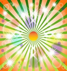 Christmas Stars Glow Wind Colour Case Is brilliant vector image vector image