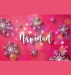 Christmas with spanish feliz navidad vector