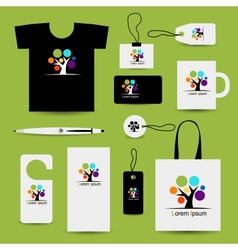 Corporate business style design with art tree vector