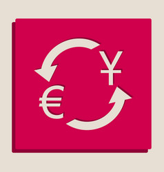 Currency exchange sign dollar and euro vector