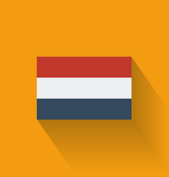 Flat flag of Netherlands vector image