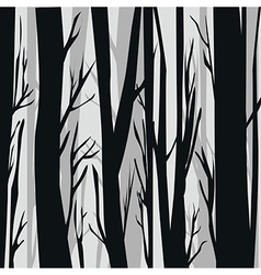 Foggy forest in the winter vector