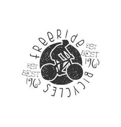 Freeride bicycles vintage stamp vector