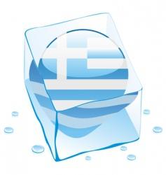 frozen button flag of greece vector image vector image