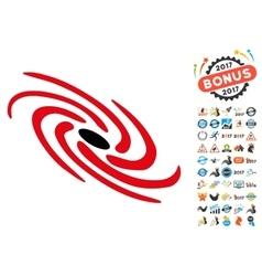Galactic Icon with 2017 Year Bonus Symbols vector image