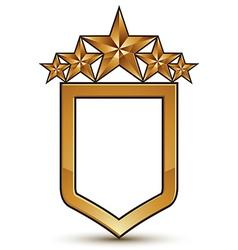 Glamorous template with five pentagonal golden vector