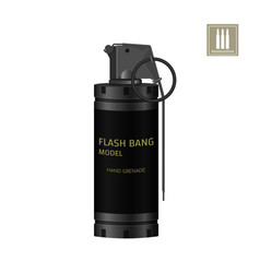 Hand flash grenade of special forces vector