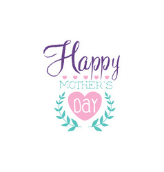 happy mothers day logo template colorful hand vector image vector image