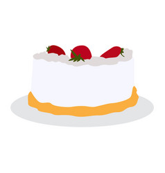 Isolated sweet cake vector