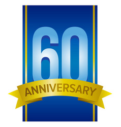 Label for 60th anniversary vector