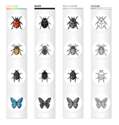 Ladybug colorado beetle insect bug butterfly vector