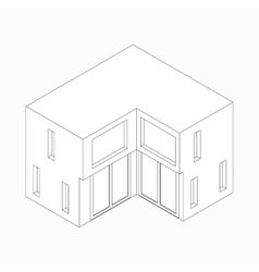 Maisonette icon isometric 3d style vector image vector image