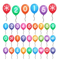Numbers and symbols balloons vector