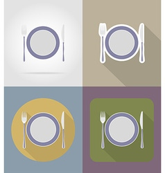 objects for food flat icons 14 vector image