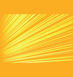 orange rays pop art comic background vector image vector image