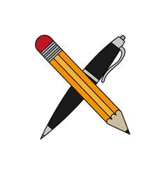 Pencil and mug design vector