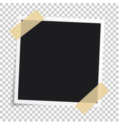 Photo frameset of realistic paper instant vector