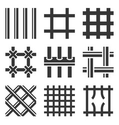 prison bars icons set on white background vector image