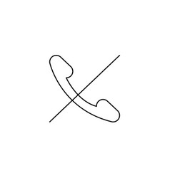 Rejected call icon vector